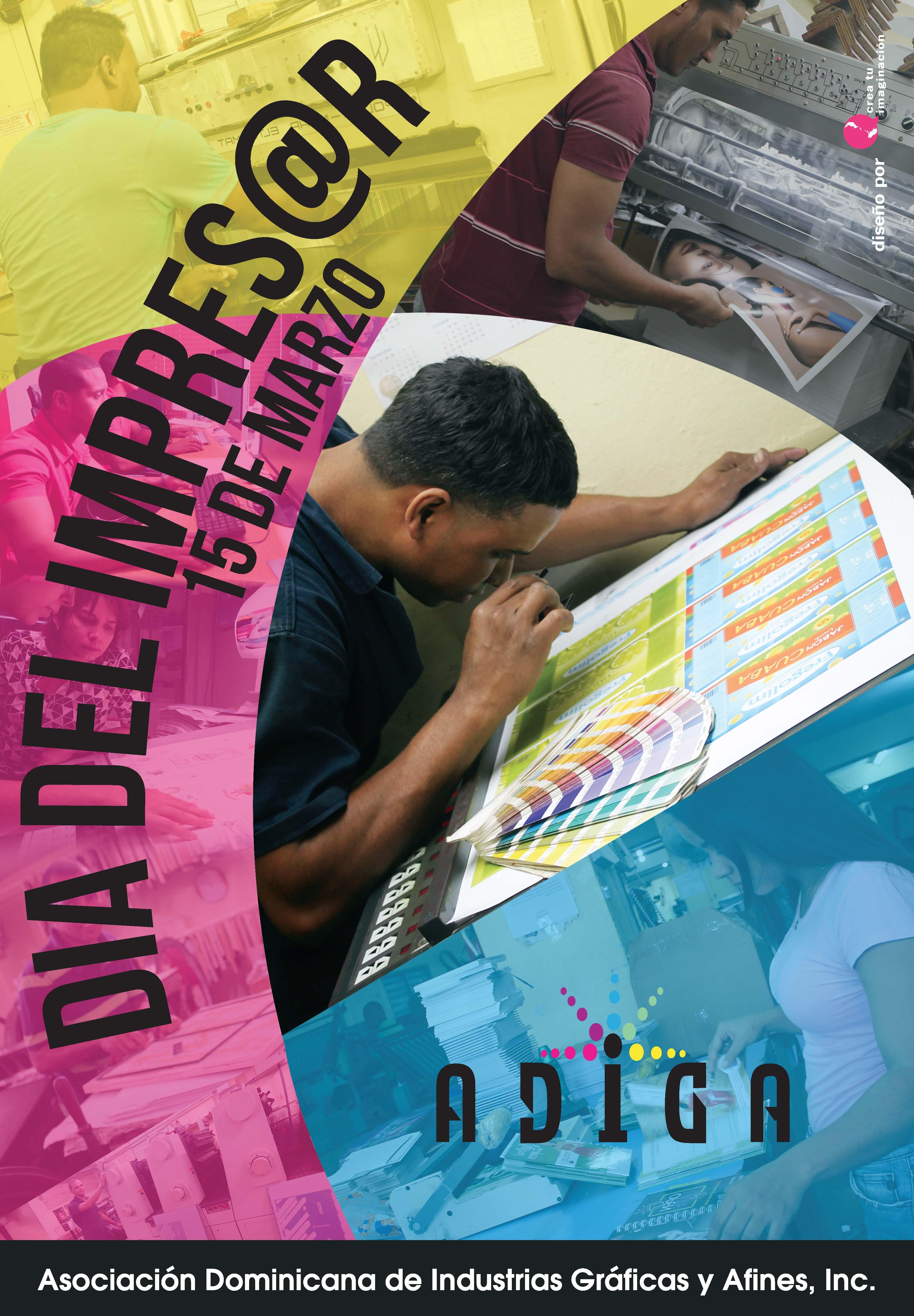 Afiche Día del Impresor - ADIGA
