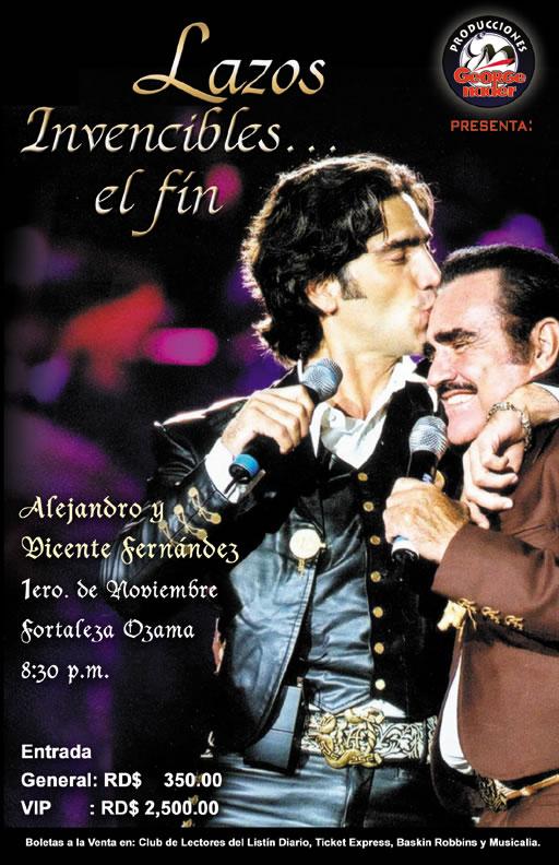 """Evento """"Alejandro y Vicente Fernández"""""""