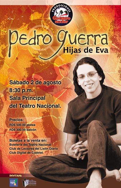 Afiche Pedro Guerra