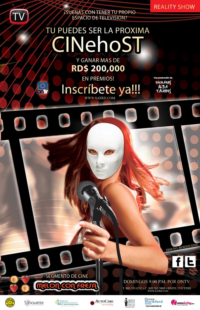 """Afiche Concurso """"CINeHoST"""""""