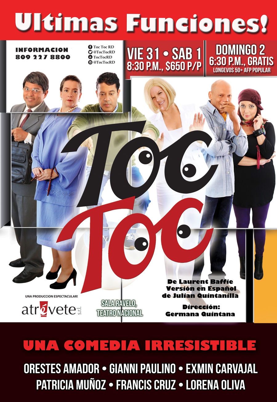 """Obra Teatral """"TOC TOC"""""""
